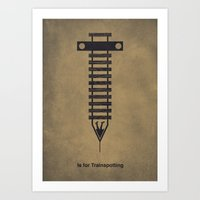 T Is For Trainspotting Art Print