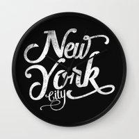 New York City Vintage Ty… Wall Clock