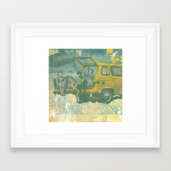 when i was young _ model planes and station wagons Framed Art Print