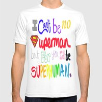Superhuman Mens Fitted Tee White SMALL