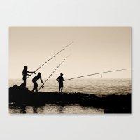 Three Fishermen Canvas Print