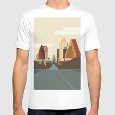 Austin Skyline Mens Fitted Tee White SMALL