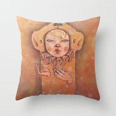 In Yellow Throw Pillow