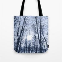 The Snow Forest  Blue Ar… Tote Bag