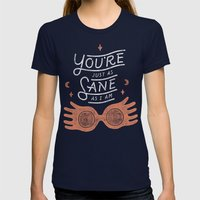 Sane Womens Fitted Tee Navy SMALL