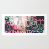 time square/new york Art Print