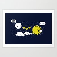Night time, Day time Art Print