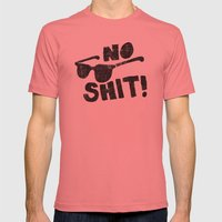 No Shit Shades! Mens Fitted Tee Pomegranate SMALL