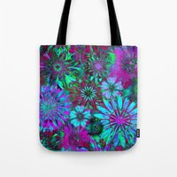 Rivalry of Flowers - green & lilac Tote Bag