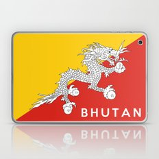 Bhutan country flag name text Laptop & iPad Skin