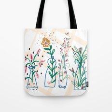Flowers. Vase, illustration, art, print, pattern, nature, floral, still life, Tote Bag