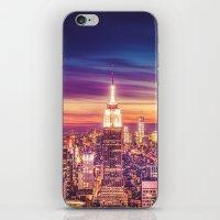 New York City Dusk Sunset iPhone & iPod Skin