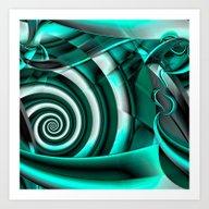 Event Horizon (green) Art Print