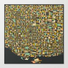 TORONTO MAP Canvas Print
