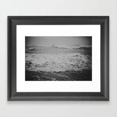 Listen to the Waves Framed Art Print