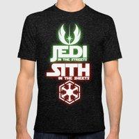 Jedi Mens Fitted Tee Tri-Black SMALL