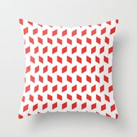 Rhombus Bomb In Poppy Re… Throw Pillow