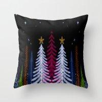 Magic Winter Night Throw Pillow