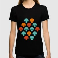 Don't Eat The Mushrooms! Womens Fitted Tee Black SMALL