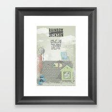 Rock Poster Framed Art Print