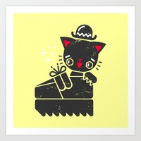 Cat In Platform Shoe Art Print