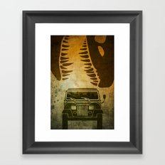 Jurassic Minimalist Framed Art Print