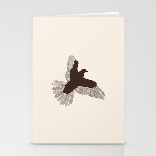 Bird (On Beige) Stationery Card