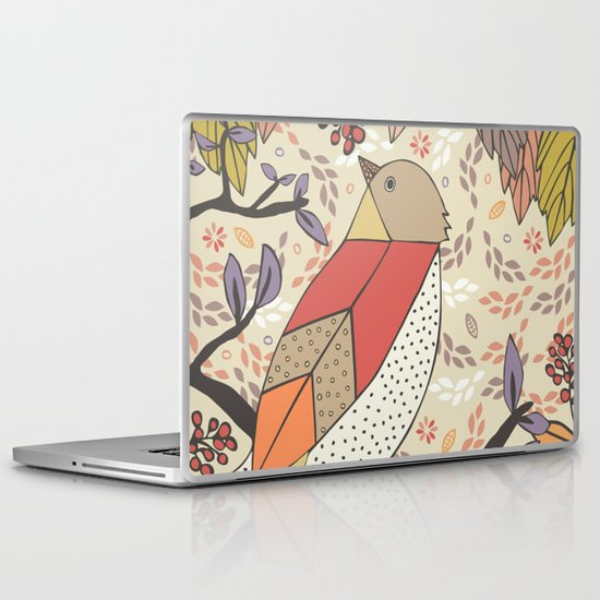 Singing Red Bird Laptop & iPad Skin