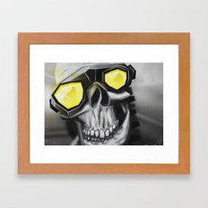 Skull and bones Framed Art Print