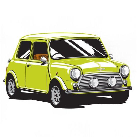 Mini Cooper Car - Chartreuse Art Print