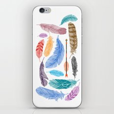 Feathers on White iPhone & iPod Skin