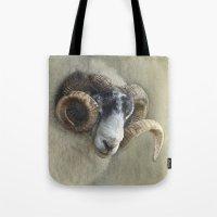 Dougal - A black faced Welsh ram Tote Bag