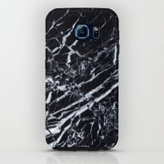 Real Marble Black Galaxy S6 Tough Case