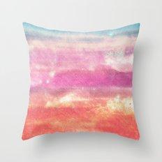 Salmon Skies Throw Pillow