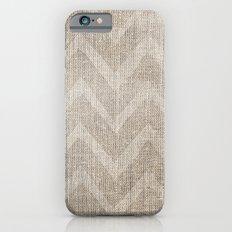 Chevron burlap (Hessian series 1 of 3) Slim Case iPhone 6s