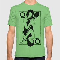 Queen Of Spades Mens Fitted Tee Grass SMALL