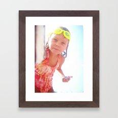 olivia. Framed Art Print