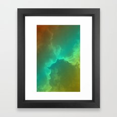 Bright Clouds Framed Art Print