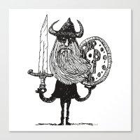 Sword, Beard & Shield Canvas Print