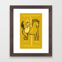 Reine Carrousel Framed Art Print