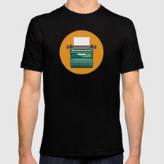 Typewriter Icon Mens Fitted Tee SMALL Black