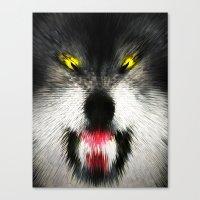 MAD WOLF Canvas Print