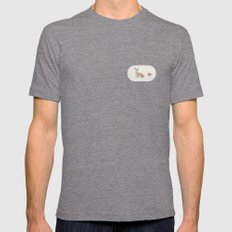 Deer Mens Fitted Tee Tri-Grey SMALL