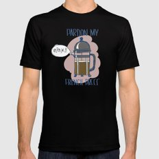 Pardon My French Press Mens Fitted Tee SMALL Black