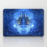Wintery Abstract Forest iPad Case