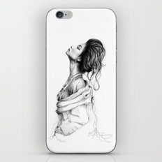 Pretty Lady Illustration iPhone & iPod Skin