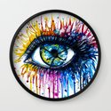 """Rainbow Eye"" Wall Clock"