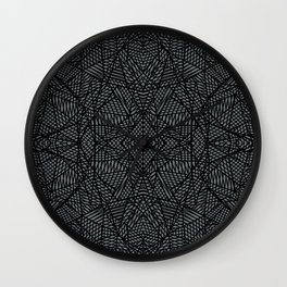 Wall Clock - Ab Lace Black and Grey - Project M
