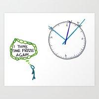Shattered Frozen Time Art Print