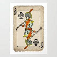Musical Poker / Baroque … Art Print